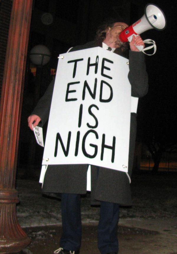 The end is nigh megaphone