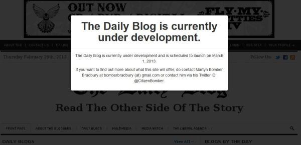 The Daily Blog - no show
