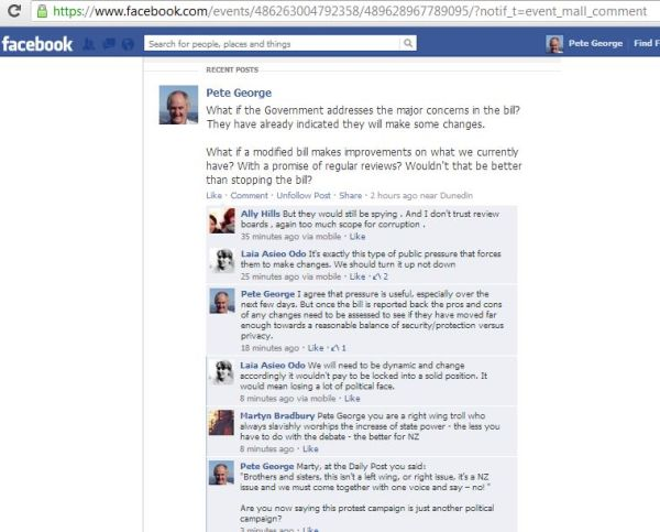 Facebook GCSB post