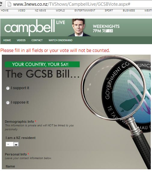 Campbell GCSB poll