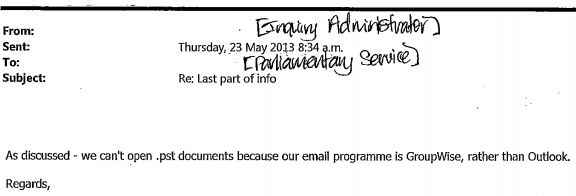 Henry email 23 May 1