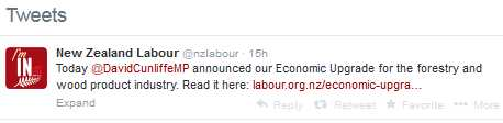 Labour forest tweet