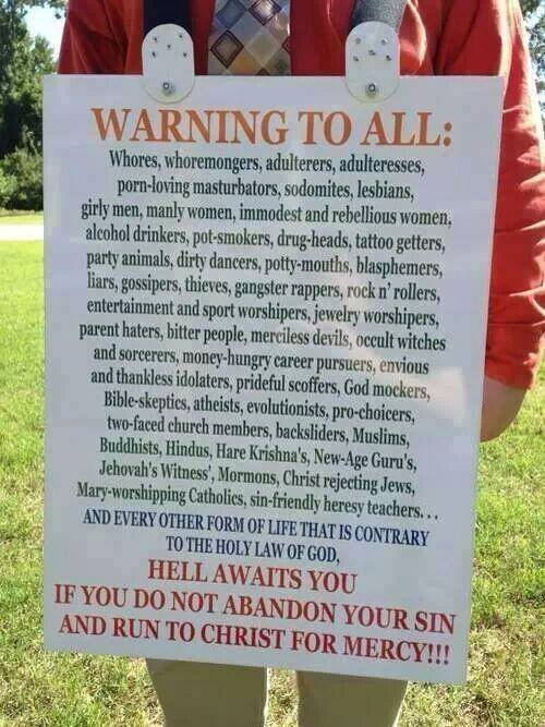 Warning to all