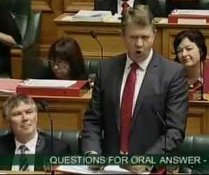 Cunliffe in Parliament