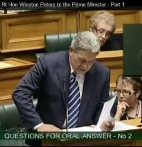 Peters in Parliament