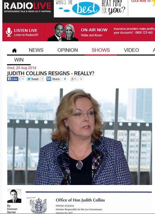 Collins resignation hoax