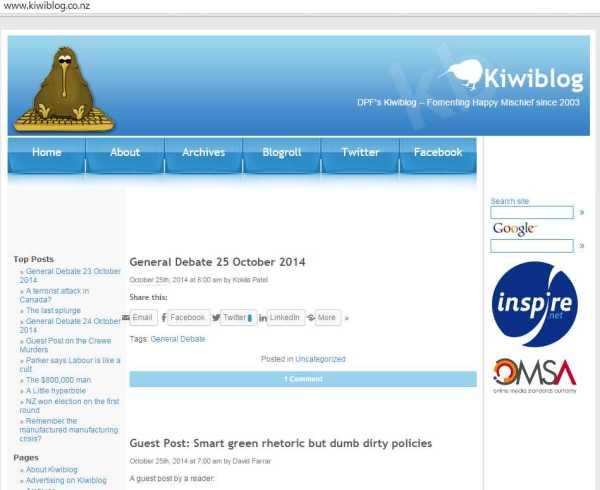 Kiwiblog home page