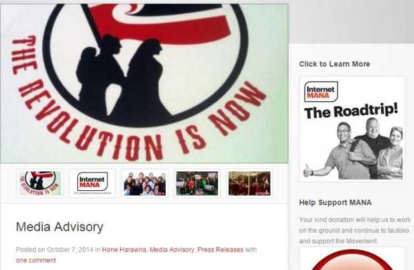 Mana post election webpage