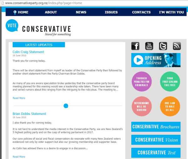 ConservativeWebpage