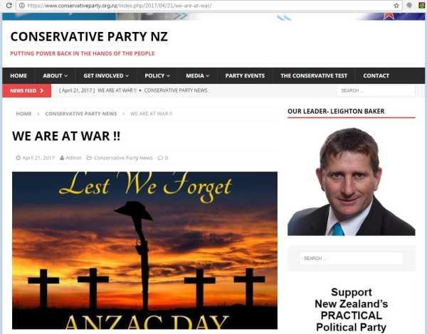ConservativesAnzacDisgrace